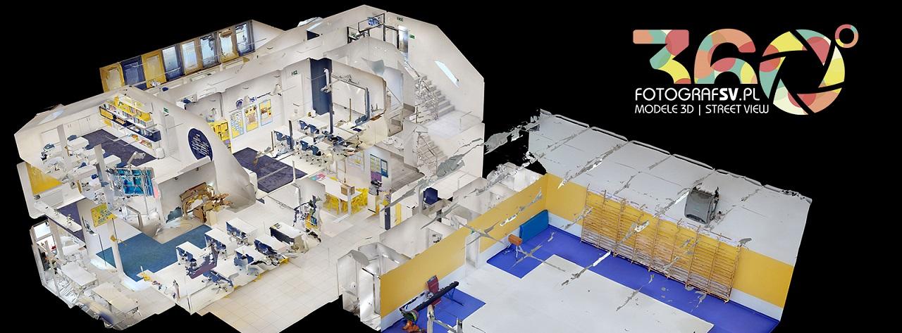model wnętrza 3d - spacer google
